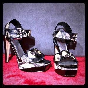 Snakeskin Sandals by BeBe